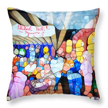 Urban Abstract Legends Corner Nashville Throw Pillow by Dan Sproul