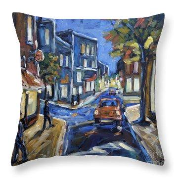 Urban Avenue By Prankearts Throw Pillow by Richard T Pranke