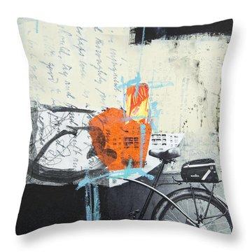 Urban Bicycle Throw Pillow