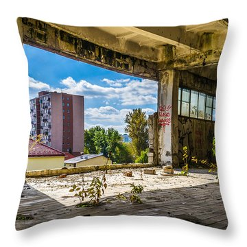 Urban Cave Throw Pillow