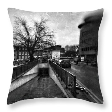 Throw Pillow featuring the digital art Urban City  by Fine Art By Andrew David