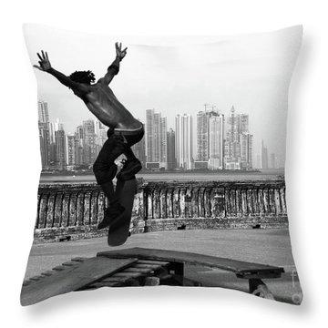 Urban Flight 2 Throw Pillow