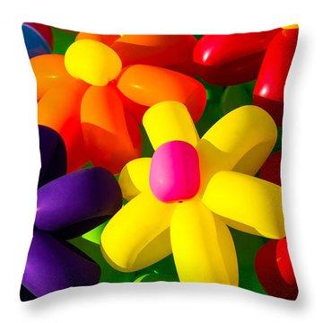 Urban Flowers - Featured 3 Throw Pillow