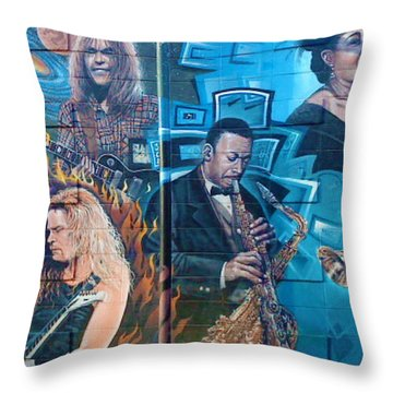 Throw Pillow featuring the photograph Urban Graffiti 2 by Janice Westerberg