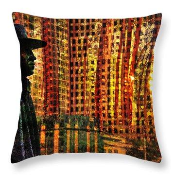 Urban Guru Throw Pillow by Skip Hunt