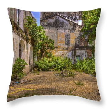 Throw Pillow featuring the photograph Urban Jungle by Kandy Hurley