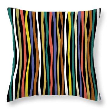 Urban Black Color Sticks Throw Pillow