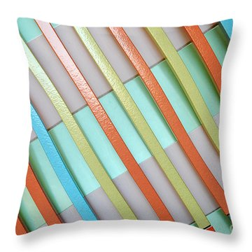 Urban Lines  Throw Pillow by Hannes Cmarits