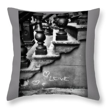 Urban Love Throw Pillow by Miriam Danar