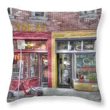 Urban Mercyseat Oil Painting Throw Pillow by Liane Wright