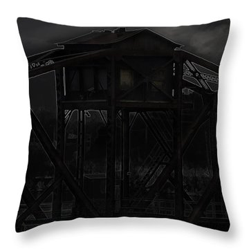 Urban Metal Throw Pillow by Thomas Young