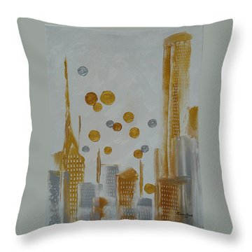 Throw Pillow featuring the painting Urban Polish by Judith Rhue