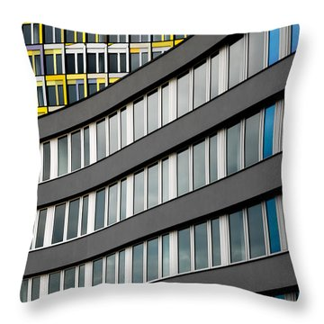 Urban Rectangles Throw Pillow by Hannes Cmarits