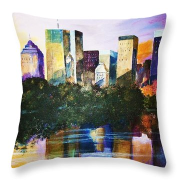 Urban Reflections Throw Pillow by Al Brown