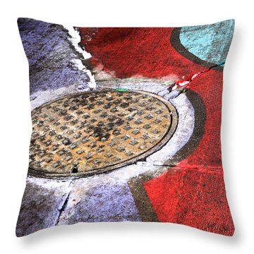 Urban Scenery  Throw Pillow