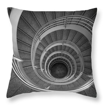 urban spiral - gray II Throw Pillow by Hannes Cmarits