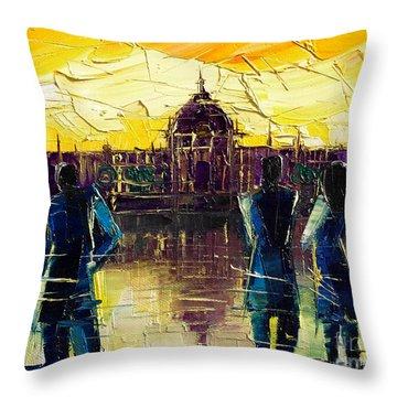 Urban Story - Hotel-dieu De Lyon Throw Pillow