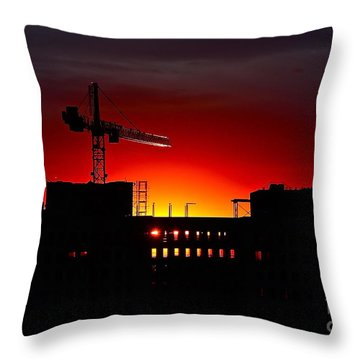 Throw Pillow featuring the photograph Urban Sunrise by Linda Bianic