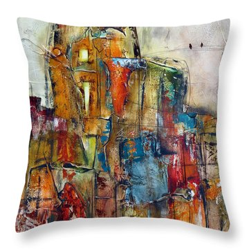 Urban Town Throw Pillow