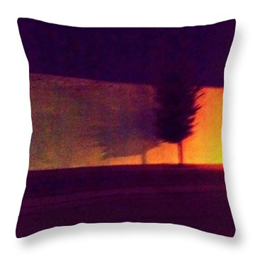 Throw Pillow featuring the photograph Urban Tree At Night by Carolyn Repka