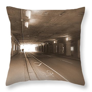 Urban Tunnel Throw Pillow by Valentino Visentini