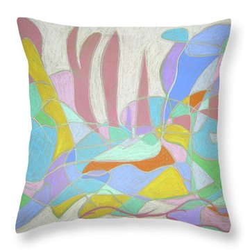 Throw Pillow featuring the painting Urban Utopia by Esther Newman-Cohen