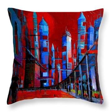 Urban Vision - City Of The Future Throw Pillow
