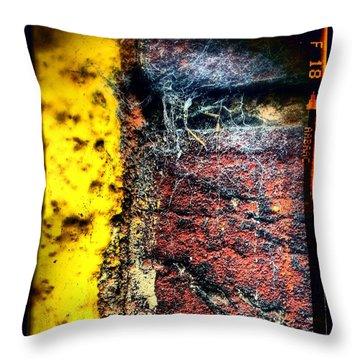 Urban Wall Google Version Throw Pillow by Jason Michael Roust