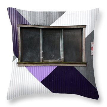 Urban Window- Photography Throw Pillow