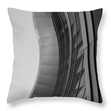 Throw Pillow featuring the photograph Urban Work - Abstract Architecture by Steven Milner