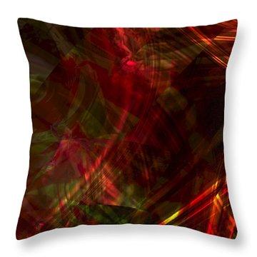 Urgent Orbital Throw Pillow by Richard Thomas