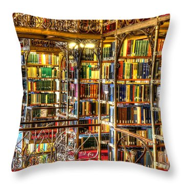 Uris Library Cornell University Throw Pillow