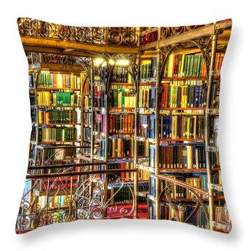 Uris Library Cornell University Throw Pillow