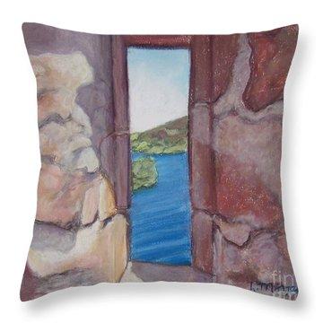 Archers' Window Urquhart Ruins Loch Ness Throw Pillow