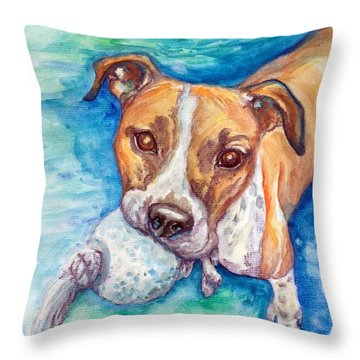 Throw Pillow featuring the painting Ursula by Ashley Kujan