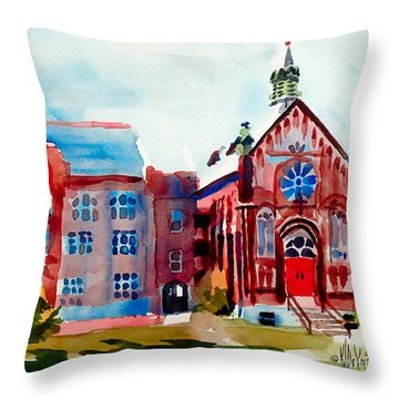 Ursuline Academy Arcadia Missouri Throw Pillow by Kip DeVore