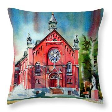 Ursuline Academy Sanctuary Throw Pillow by Kip DeVore