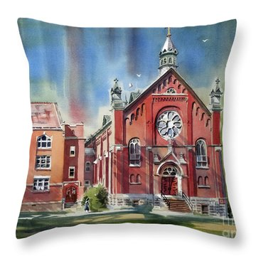 Ursuline Academy With Doves Throw Pillow