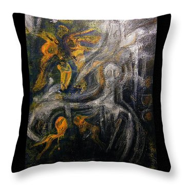 Ursuppe - Primeval Soup Throw Pillow by Mimulux patricia no No