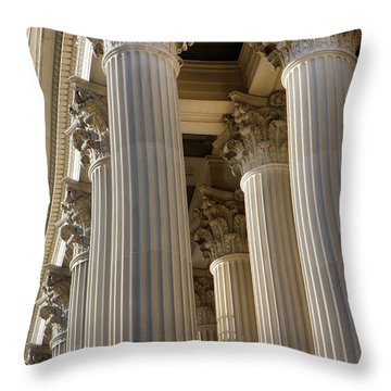 Us Archive Columns Throw Pillow
