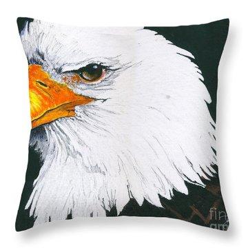 Us Bald Eagle Throw Pillow