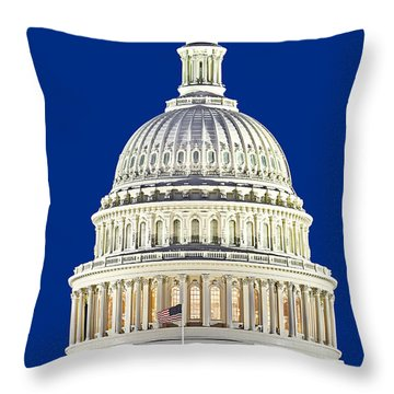 Us Capitol Dome Throw Pillow by Susan Candelario