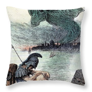 U.s. Cartoon: Cholera, 1883 Throw Pillow by Granger