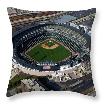Us Cellular Field Chicago Sports 08 Throw Pillow by Thomas Woolworth