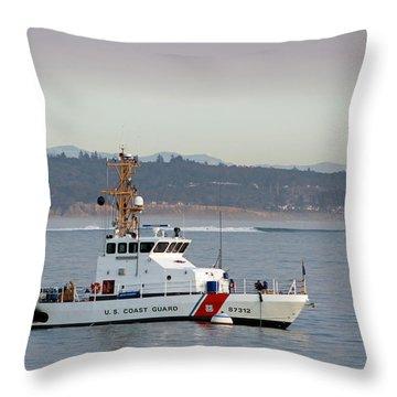 U.s. Coast Guard Cutter - Hawksbill Throw Pillow
