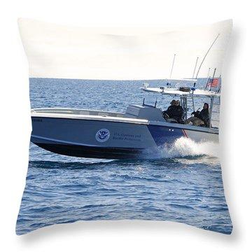 Us Customs At Work Throw Pillow