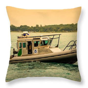 U.s. Customs Border Patrol Throw Pillow