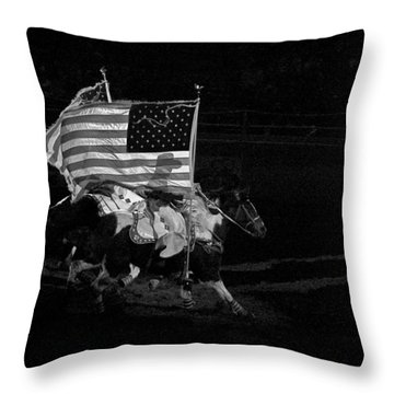 Throw Pillow featuring the photograph U.s. Flag Western by Ron White