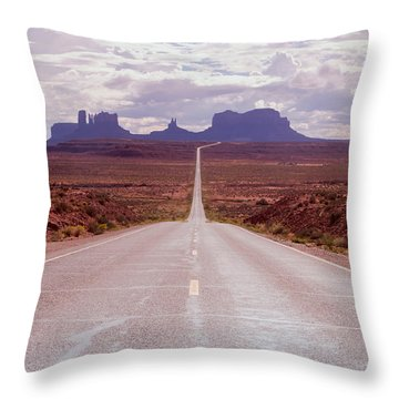 Us Highway 163 Throw Pillow