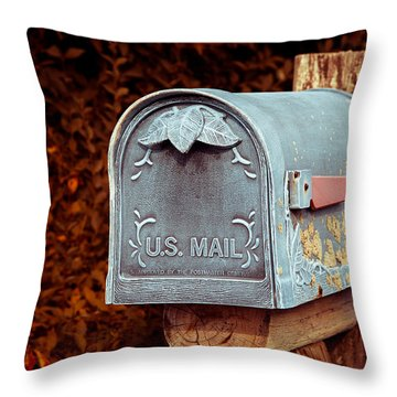 U.s. Mail Approved Throw Pillow by Eti Reid